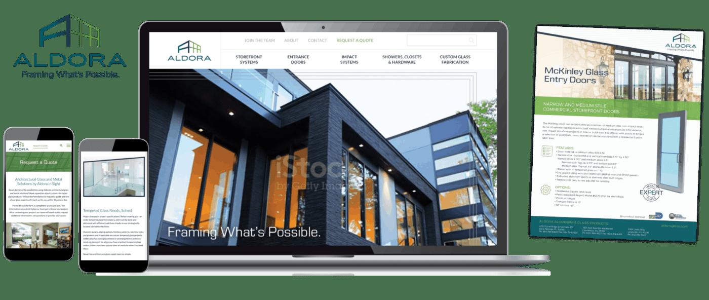 Aldora website examples